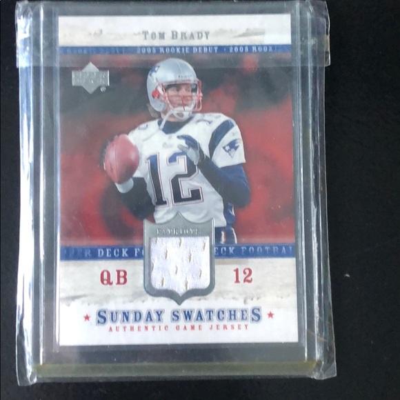 reputable site fcccc 0bcd8 Tom Brady rookie jersey card